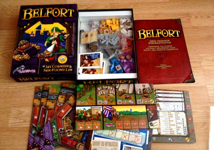 Belfort - zawartość pudełka