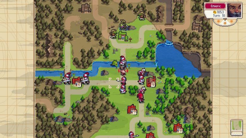 Widok mapy potyczki